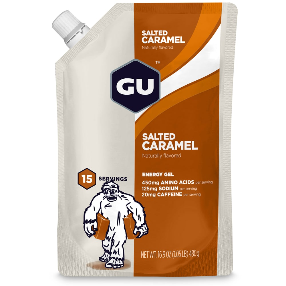 GU Roctane Salted Caramel Energy Gels, 15 Serving Pack - NO COLOR