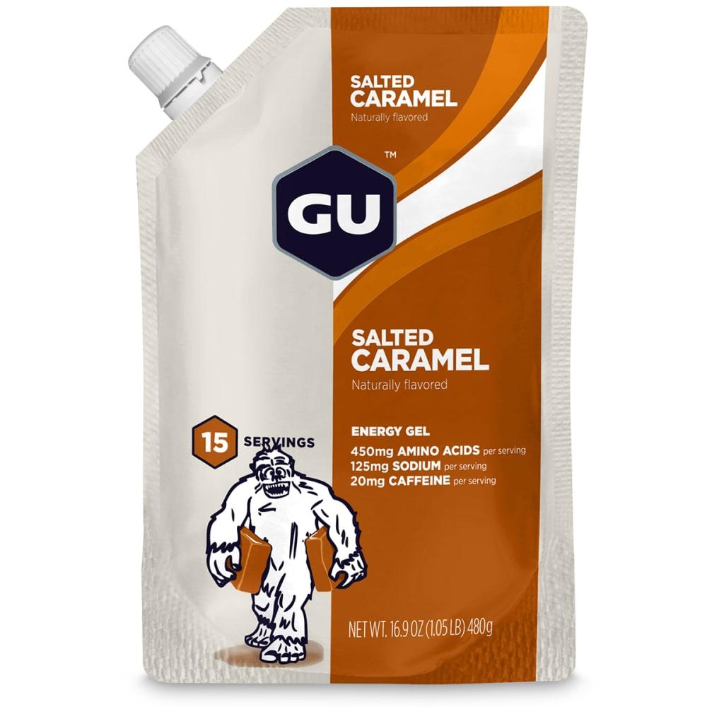 GU Roctane Salted Caramel Energy Gels, 15 Serving Pack - NO COLOR
