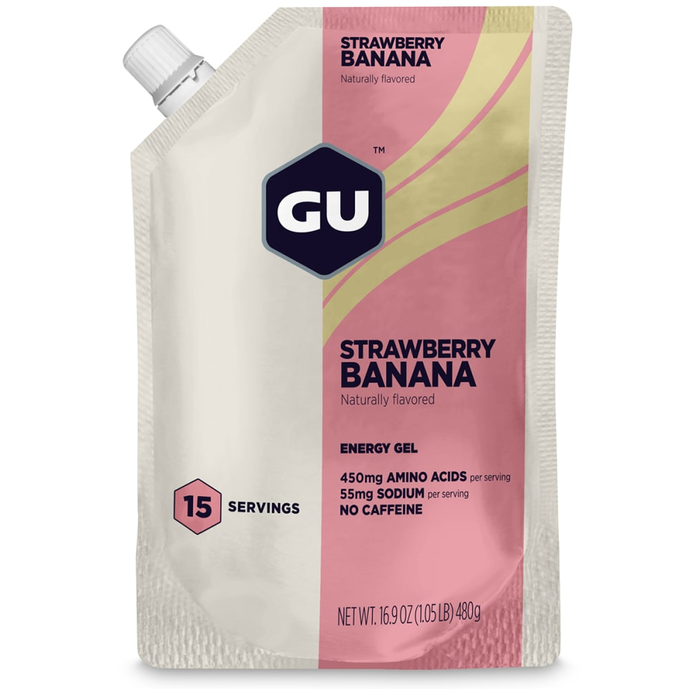GU Roctane Strawberry Banana Energy Gels, 15 Serving Pack - NO COLOR