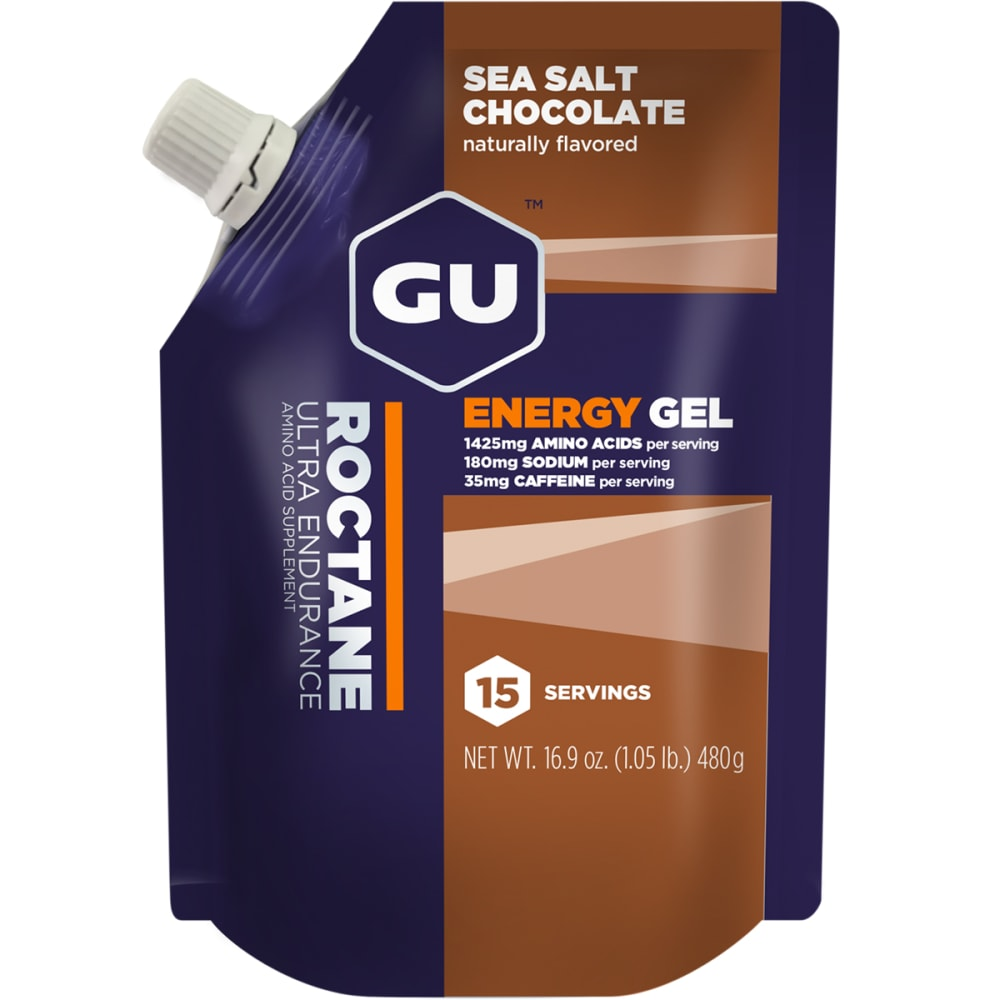 GU Roctane Sea Salt Chocolate Energy Gels, 15 Serving Pack - NO COLOR