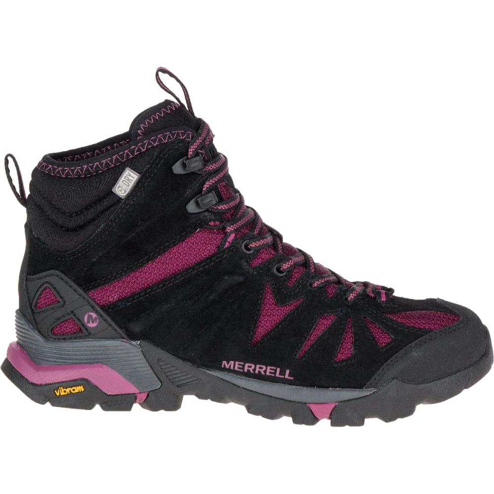 MERRELL Women's Capra Mid Waterproof Shoe, Huckleberry - HUCKLEBERRY