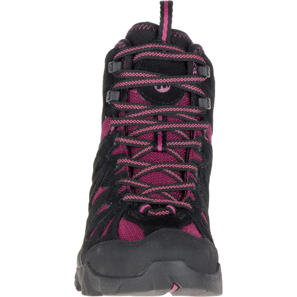 MERRELL Women's Capra Mid Waterproof Shoe, Huckleberry - HUCKLEBERRY