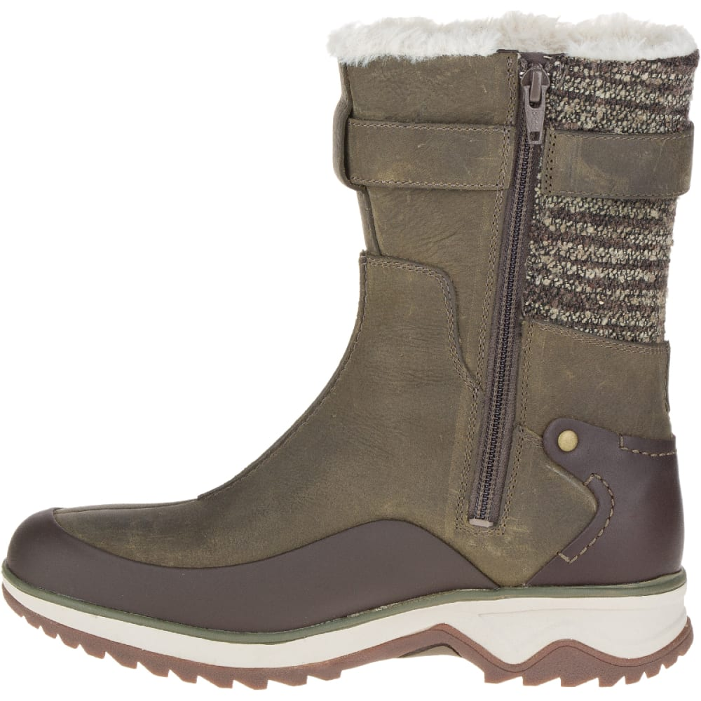 MERRELL Women's Eventyr Mid North Waterproof Winter Boot, Bungee Cord - BUNGEE CORD