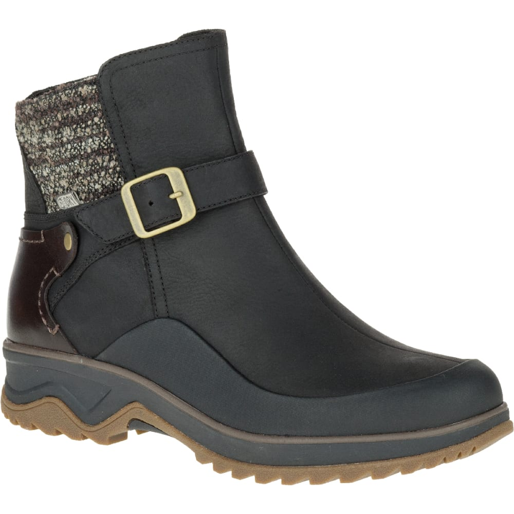 MERRELL Women's Eventyr Strap Waterproof Winter Boot, Black - BLACK