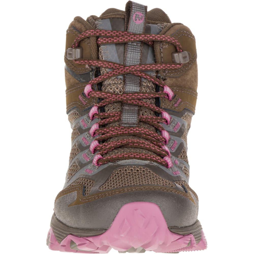 MERRELL Women's Moab FST Mid Waterproof Boots, Boulder - BOULDER