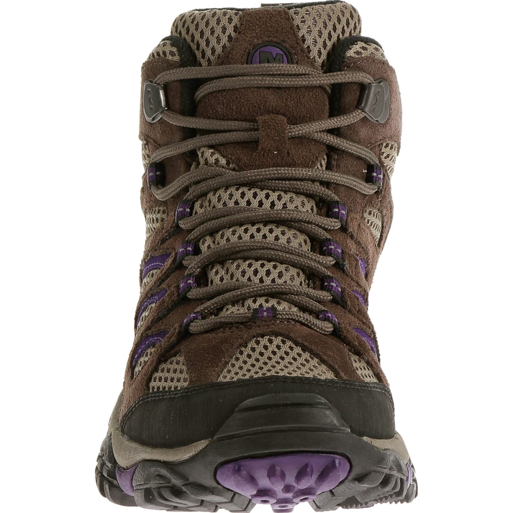 MERRELL Women's Moab Ventilator Mid, Bracken/Purple, Wide - BRACKEN/PURPLE