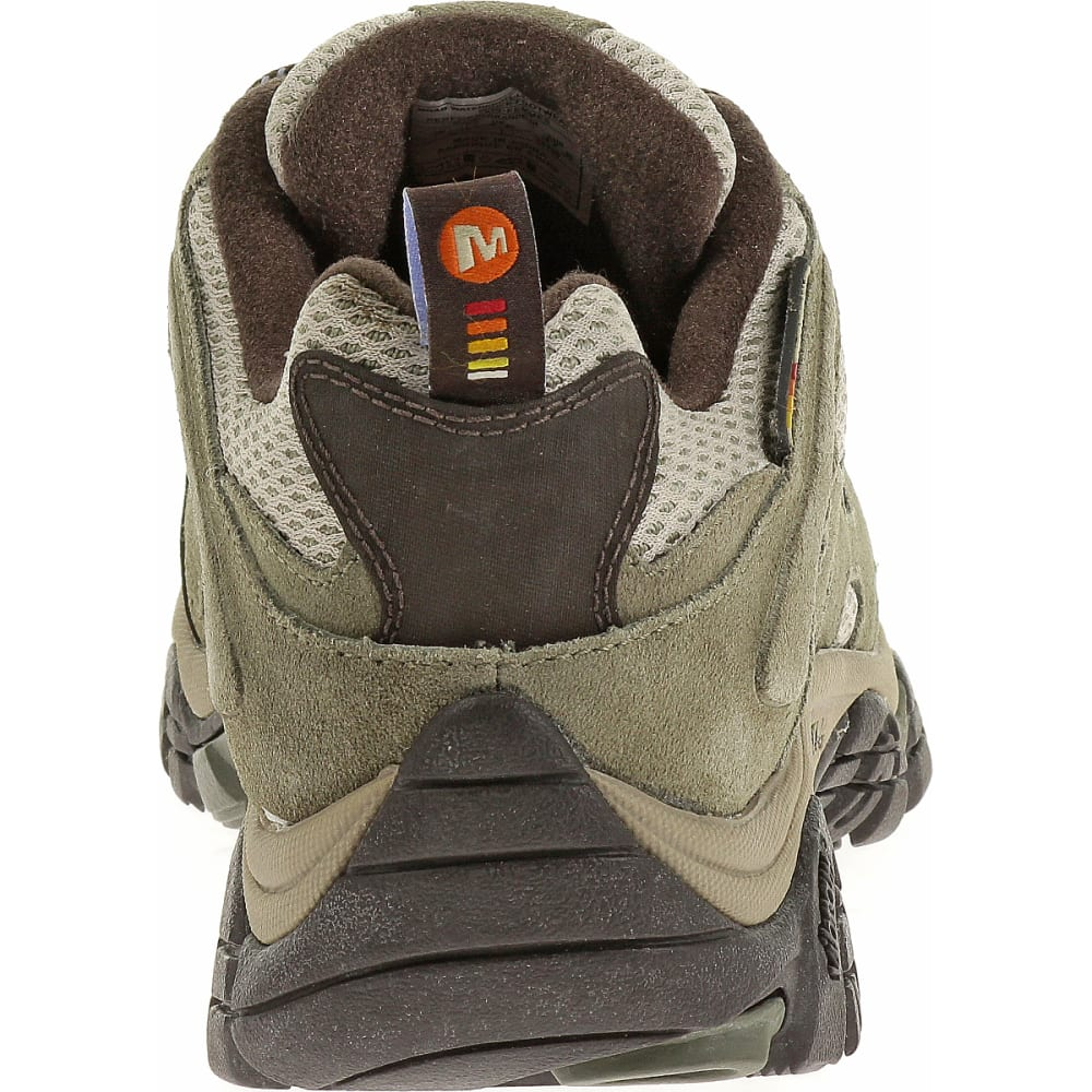 MERRELL Women's Moab Waterproof Shoe, Dusty Olive, Wide - DUSTY OLIVE
