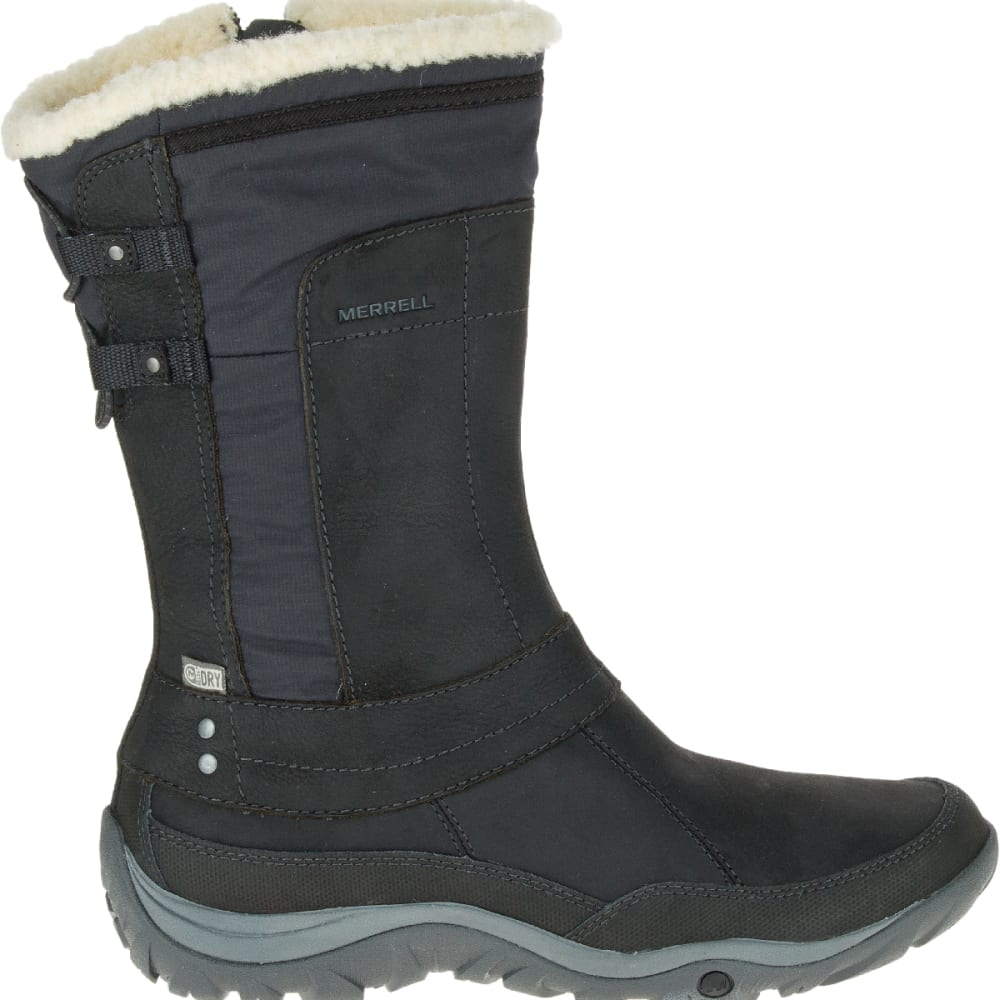 MERRELL Women's Murren Mid Waterproof Boots, Black - BLACK