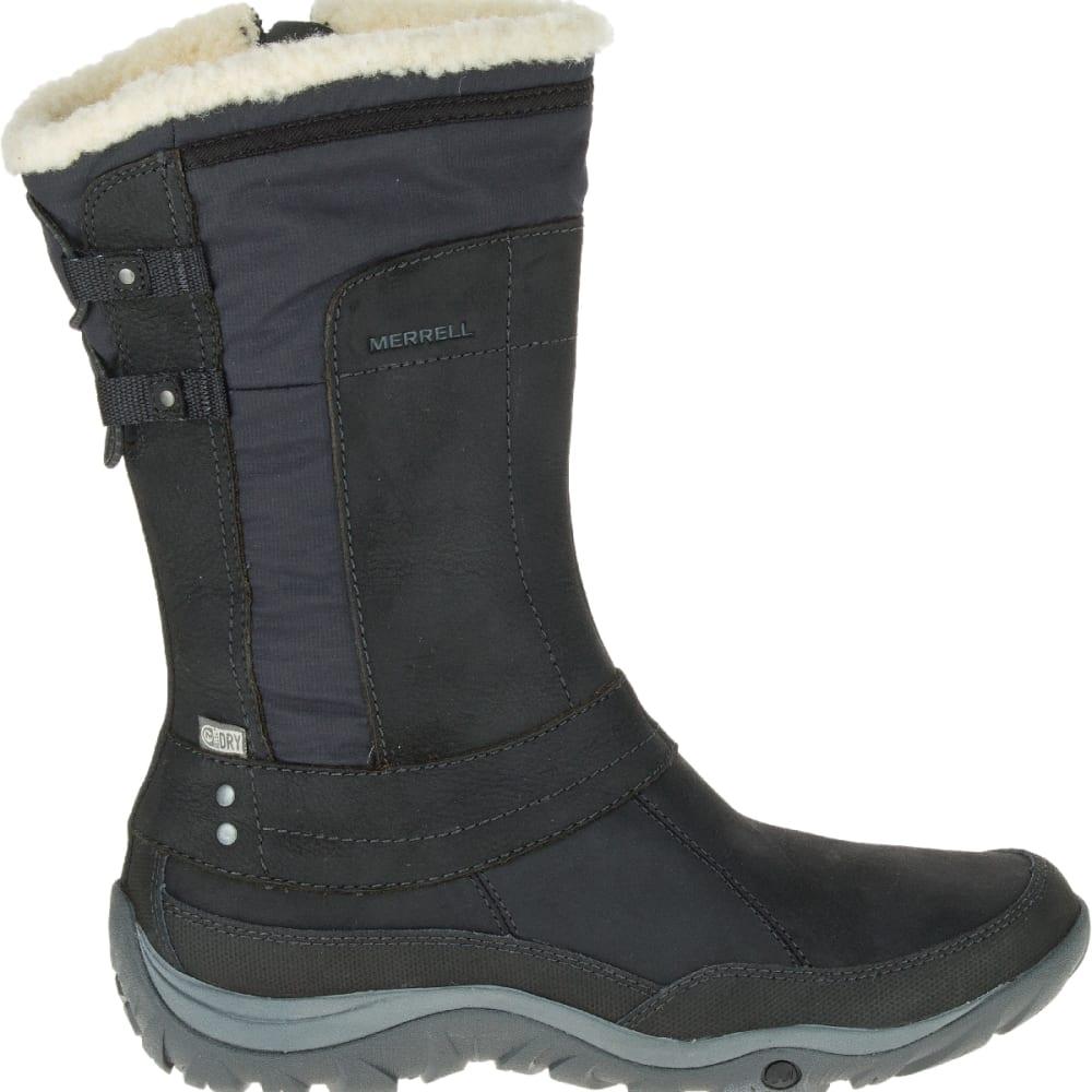 MERRELL Women's Murren Mid Waterproof Boots, Black - BLACK