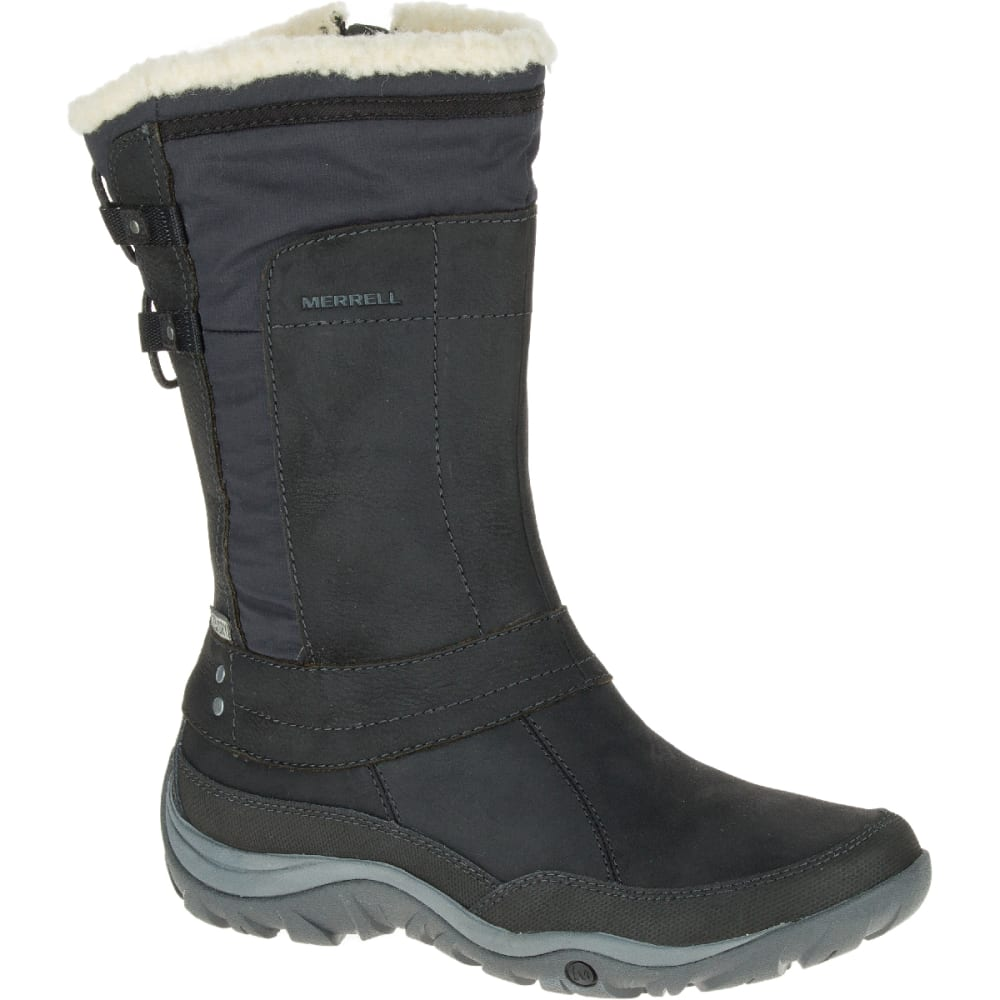 MERRELL Women's Murren Mid Waterproof Boots - BLACK