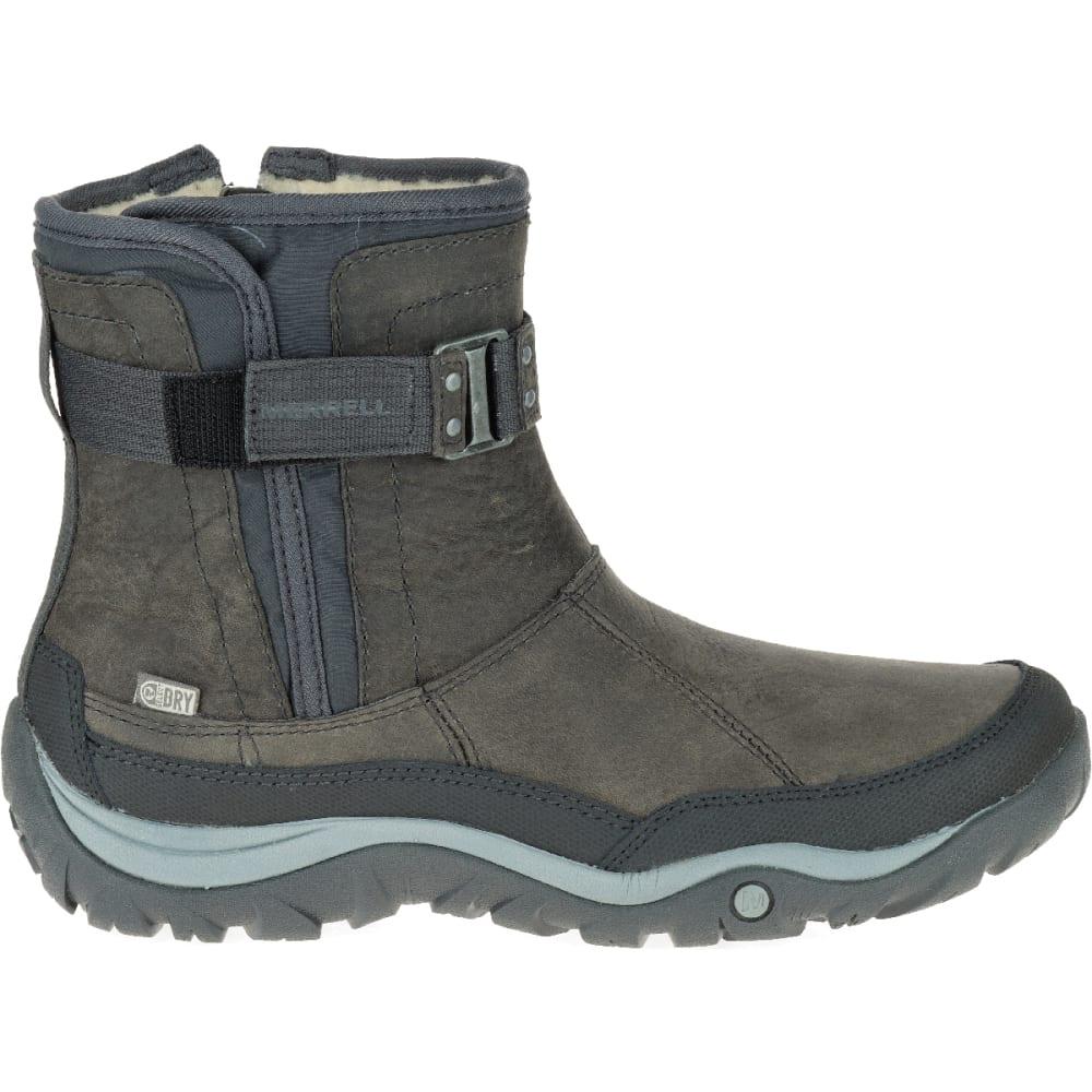 MERRELL Women's Murren Strap Waterproof Boot, Pewter - PEWTER