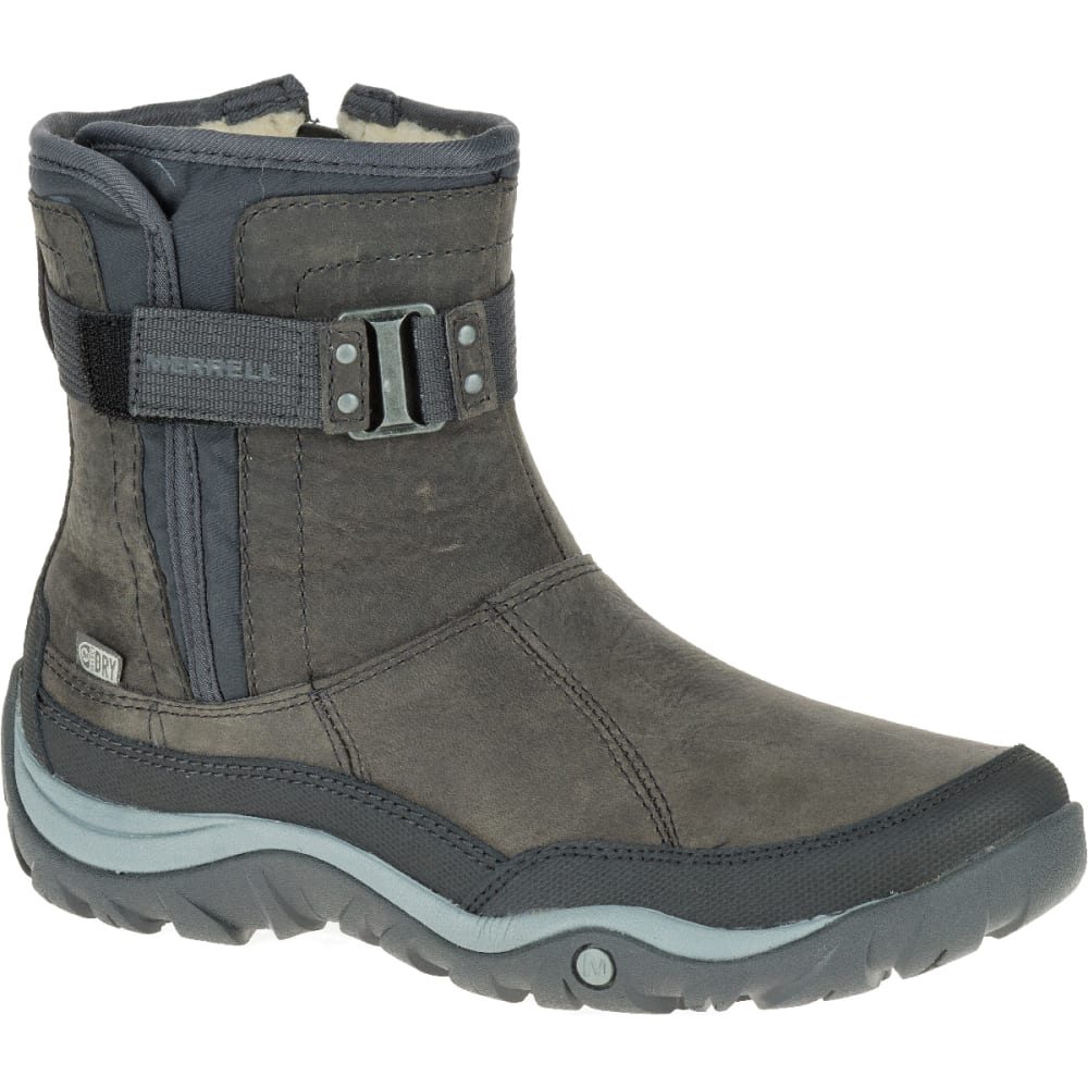 MERRELL Women's Murren Strap Waterproof Boot - PEWTER