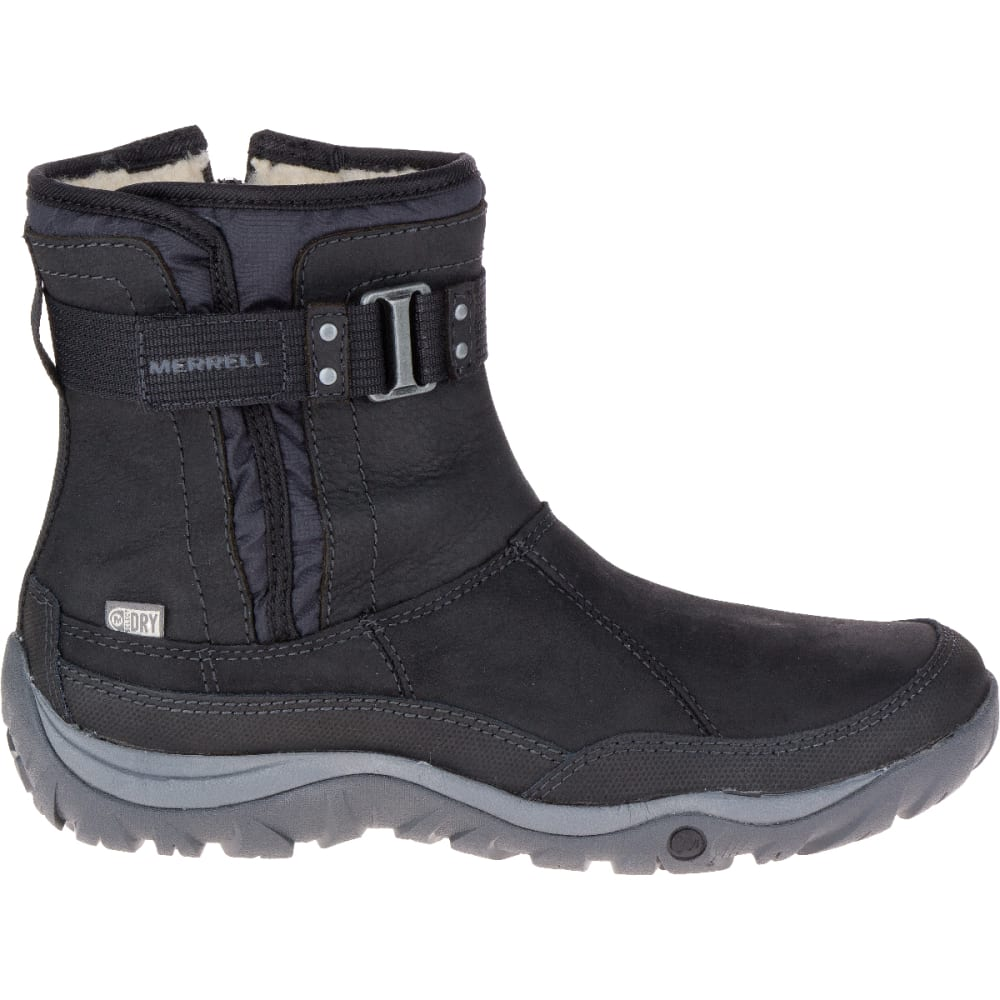 MERRELL Women's Murren Strap Waterproof Boot, Black - BLACK
