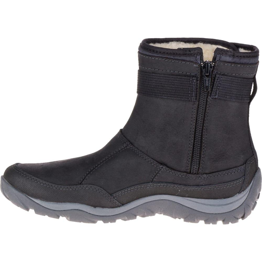 MERRELL Women's Murren Strap Waterproof Boot, Black - BLACK