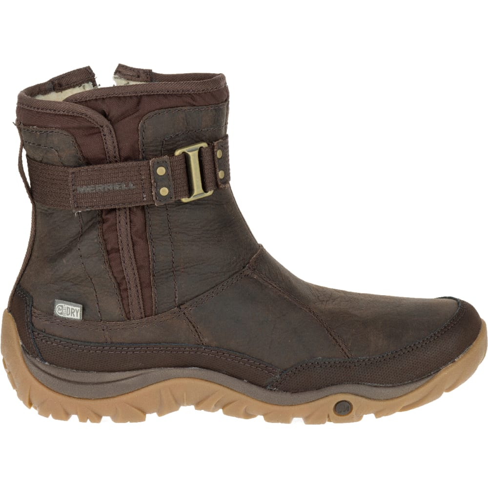 MERRELL Women's Murren Strap Waterproof Boot, Bracken - BRACKEN