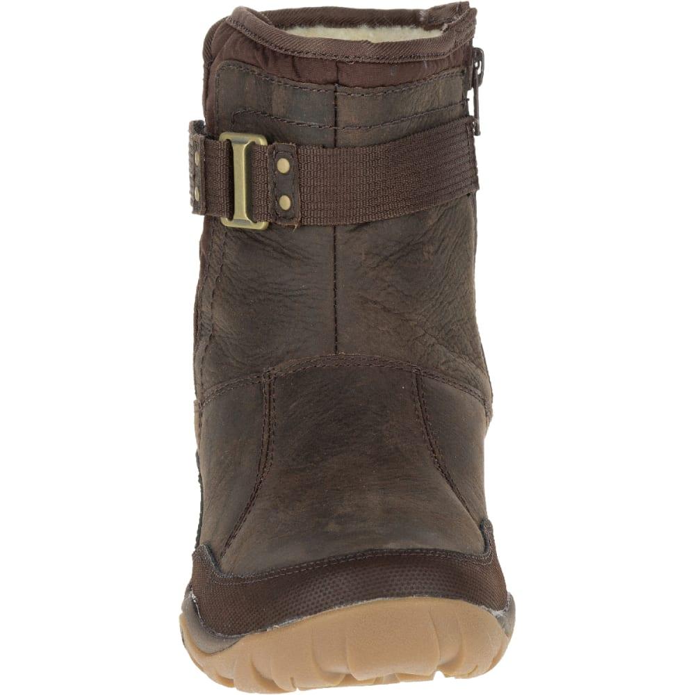 MERRELL Women's Murren Strap Waterproof Boot, Bracken - BRACKEN