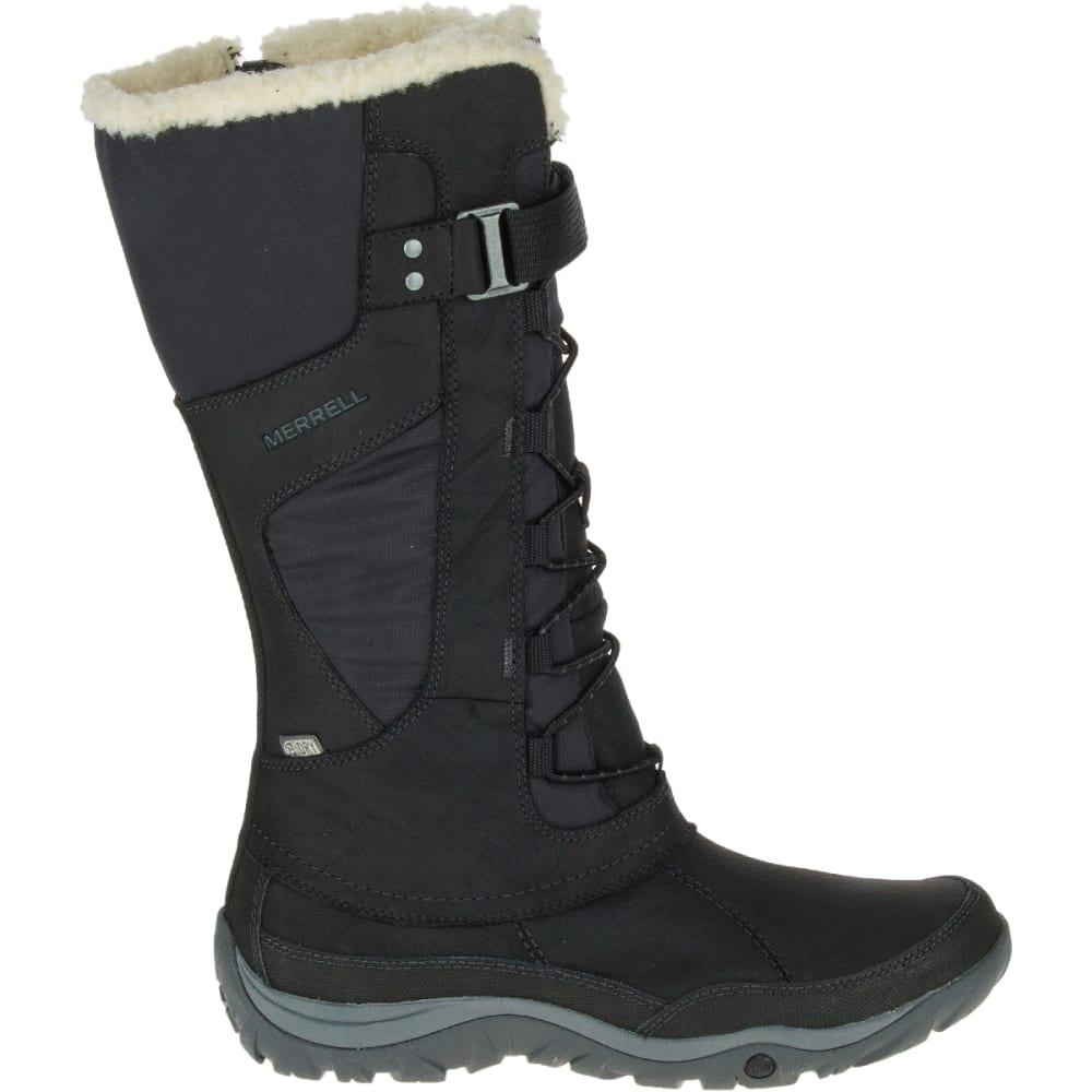 MERRELL Women's Murren Tall Waterproof Winter Boots, Black