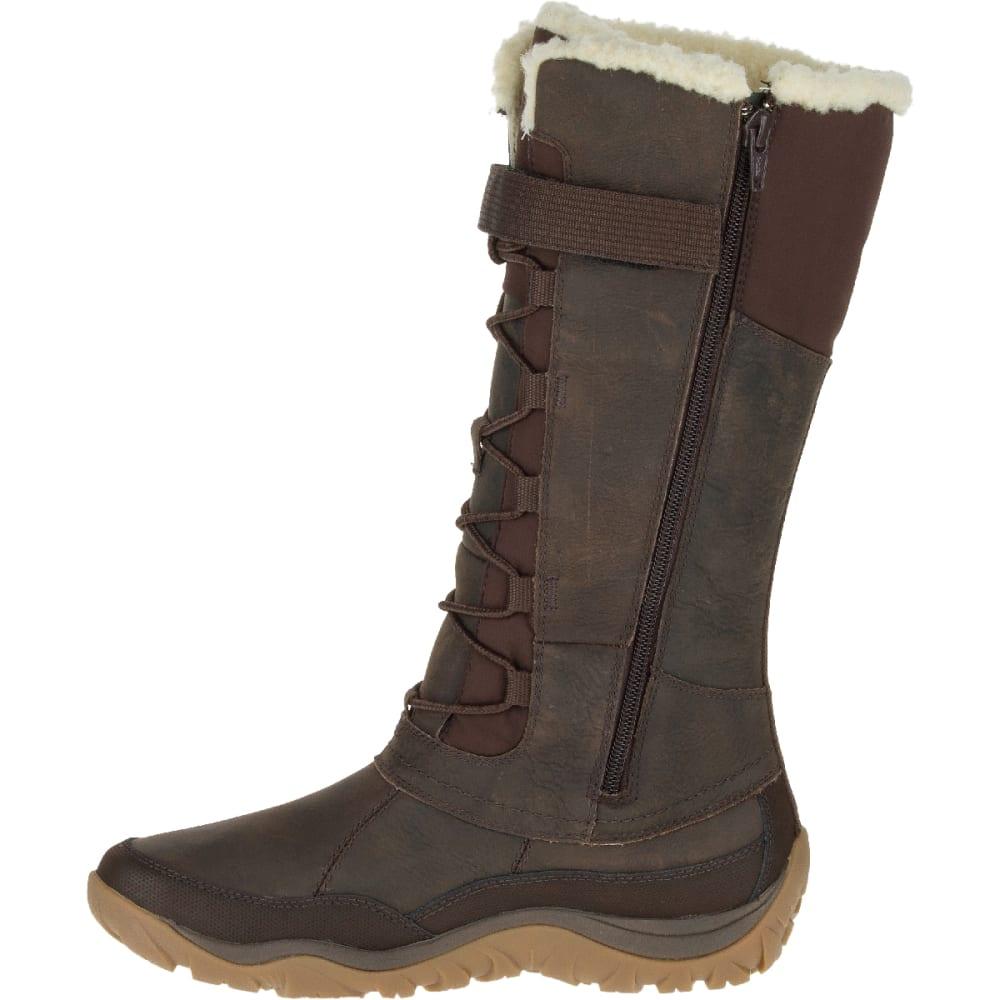 43fec5d76f MERRELL Women's Murren Tall Waterproof Winter Boots, Bracken ...