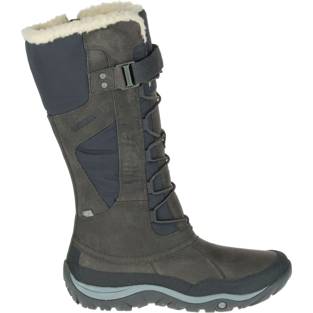 MERRELL Women's Murren Tall Waterproof Winter Boots, Pewter - PEWTER