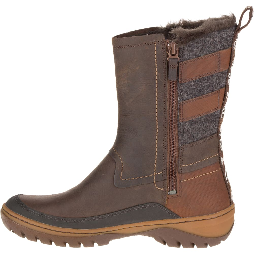 MERRELL Women's Sylva Mid Buckle Waterproof Boot, Potting Soil - POTTING SOIL
