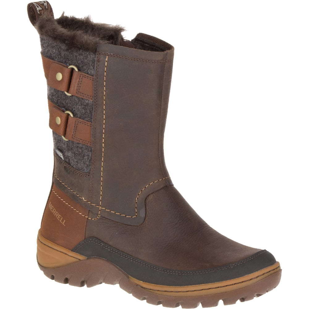 MERRELL Women's Sylva Mid Buckle Waterproof Boot, Potting Soil - POTTING SOIL