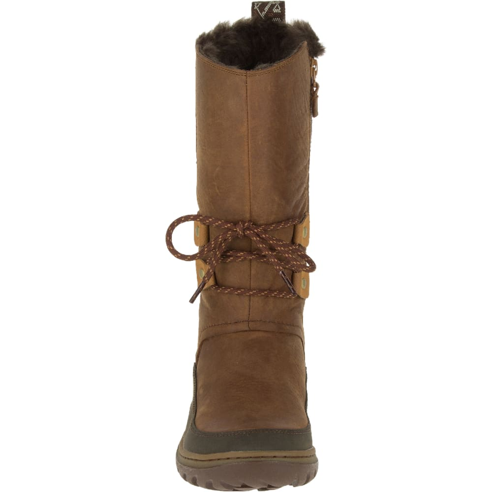 MERRELL Women's Sylva Tall Waterproof Boot, Merrell Tan - MERRELL TAN