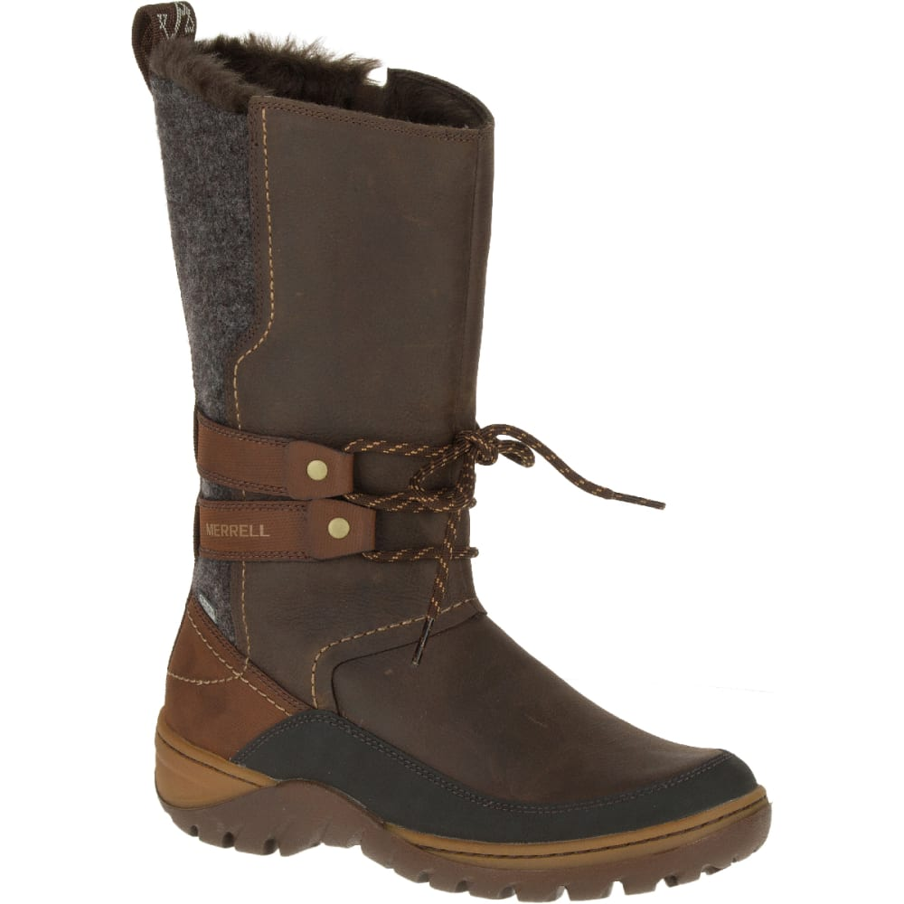 4dee3315ab727 MERRELL Women's Sylva Tall Waterproof Boot, Potting Soil - POTTING SOIL