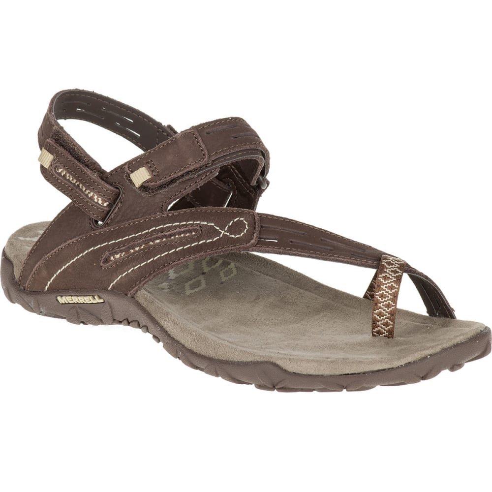 MERRELL Women's Terran Convertible II Sandals, Dark Earth - DARK EARTH