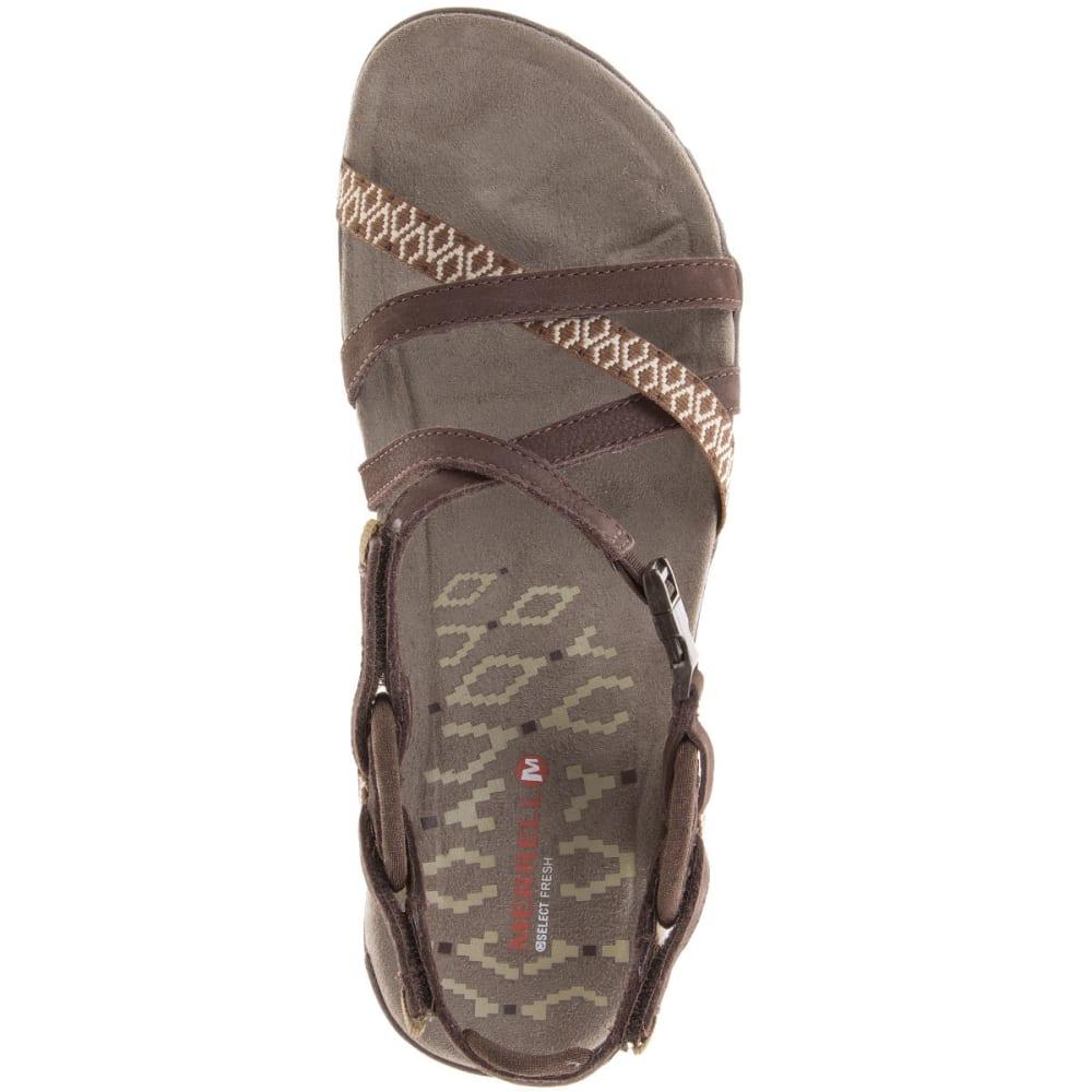 MERREL Women's Terran Lattice II Sandals, Dark Earth - DARK EARTH