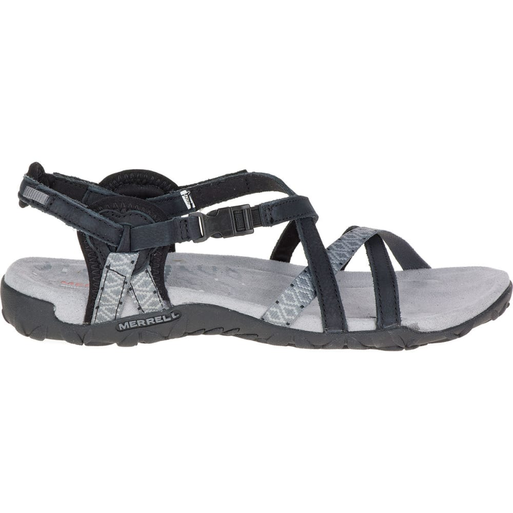 MERREL Women's Terran Lattice II Sandals, Black - BLACK