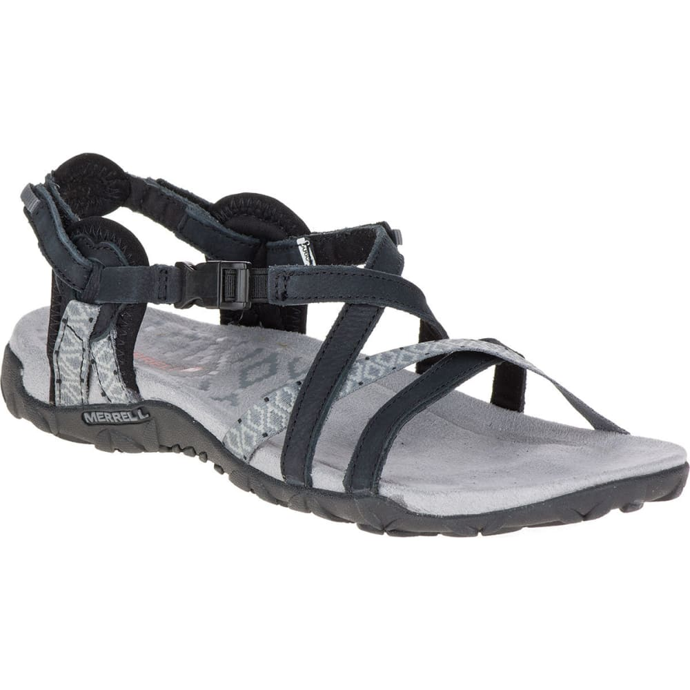 MERREL Women's Terran Lattice II Sandals, Black - BLACK