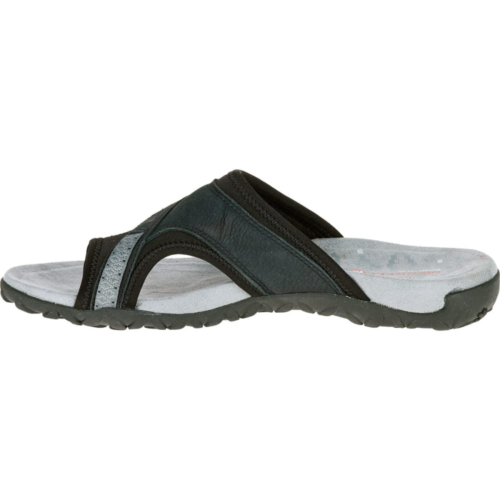 MERRELL Women's Terran Post II Sandals, Black - BLACK