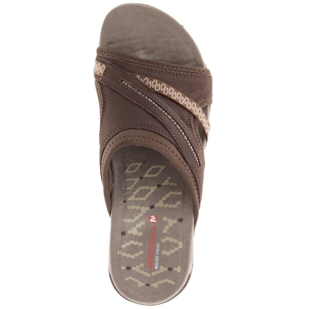 MERRELL Women's Terran Slide II Sandals, Dark Earth - DARK EARTH