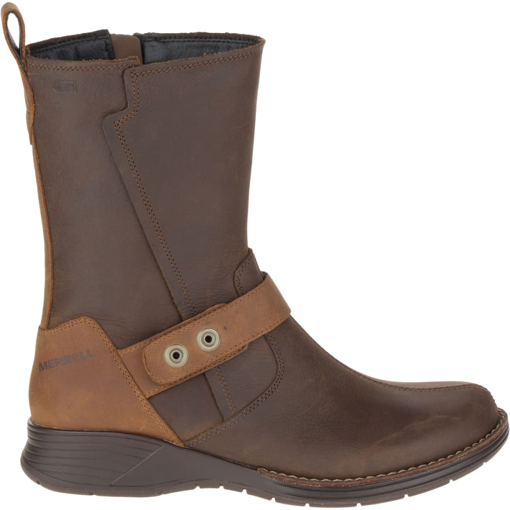 MERRELL Women's Travvy Mid Waterproof Boot, Clay - CLAY