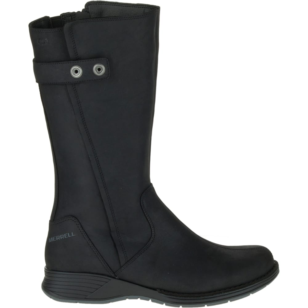 merrell s travvy waterproof boots black