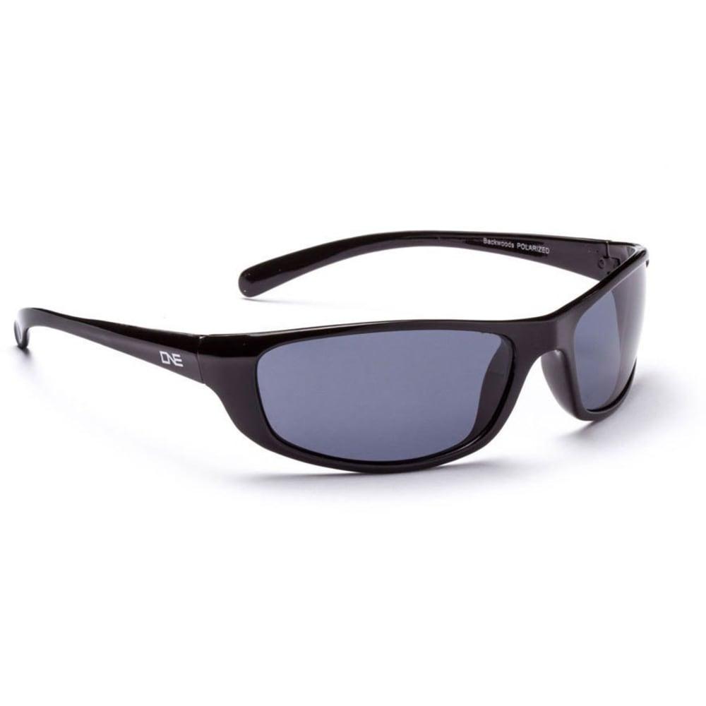 ONE BY OPTIC NERVE Backwoods Sunglasses, Black - BLACK/POLAR SMOKE