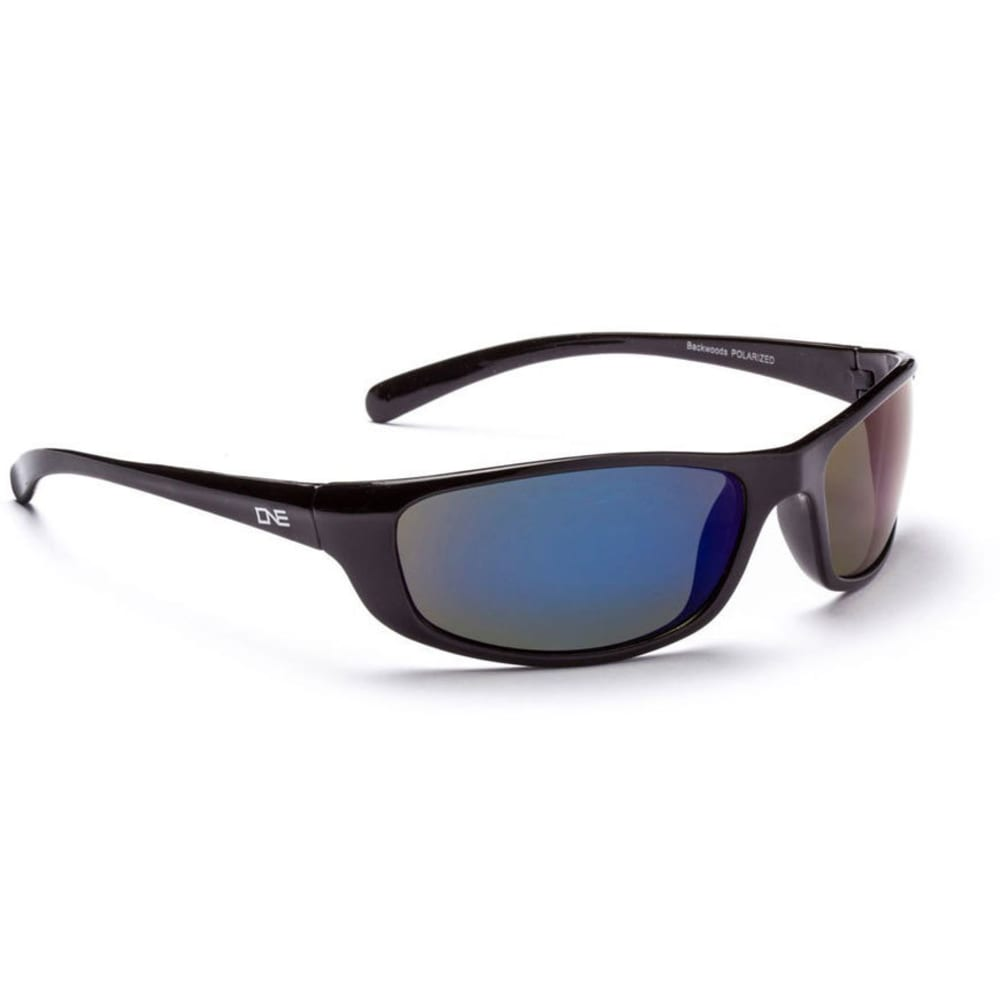 ONE BY OPTIC NERVE Backwoods Sunglasses, Black - FSH BK/GRY BLU 16075
