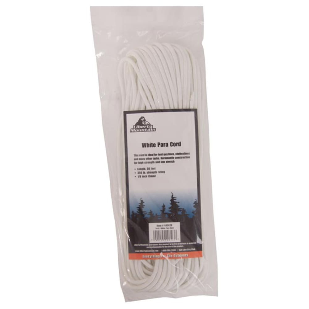 LIBERTY MOUNTAIN 50 ft. Paracord - WHITE