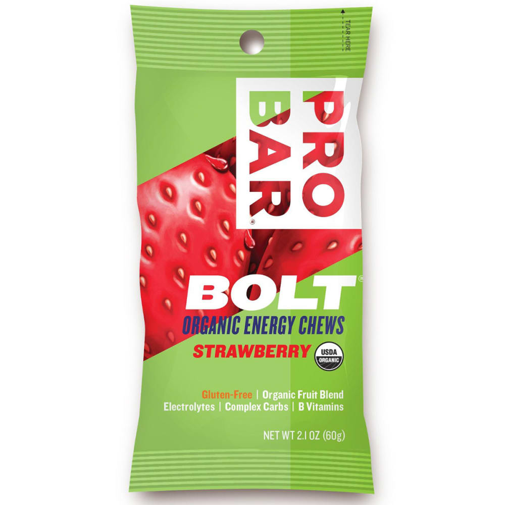 PRO BAR Bolt Energy Chew, Strawberry - NO COLOR