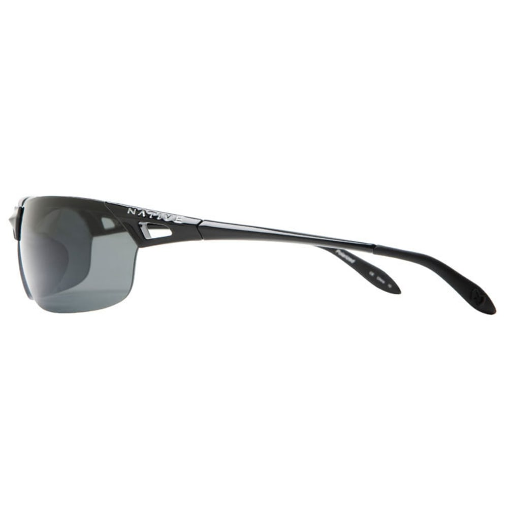 NATIVE EYEWEAR Vigor Reflex Polarized Sunglasses, Iron/Silver - IRON/SILVER
