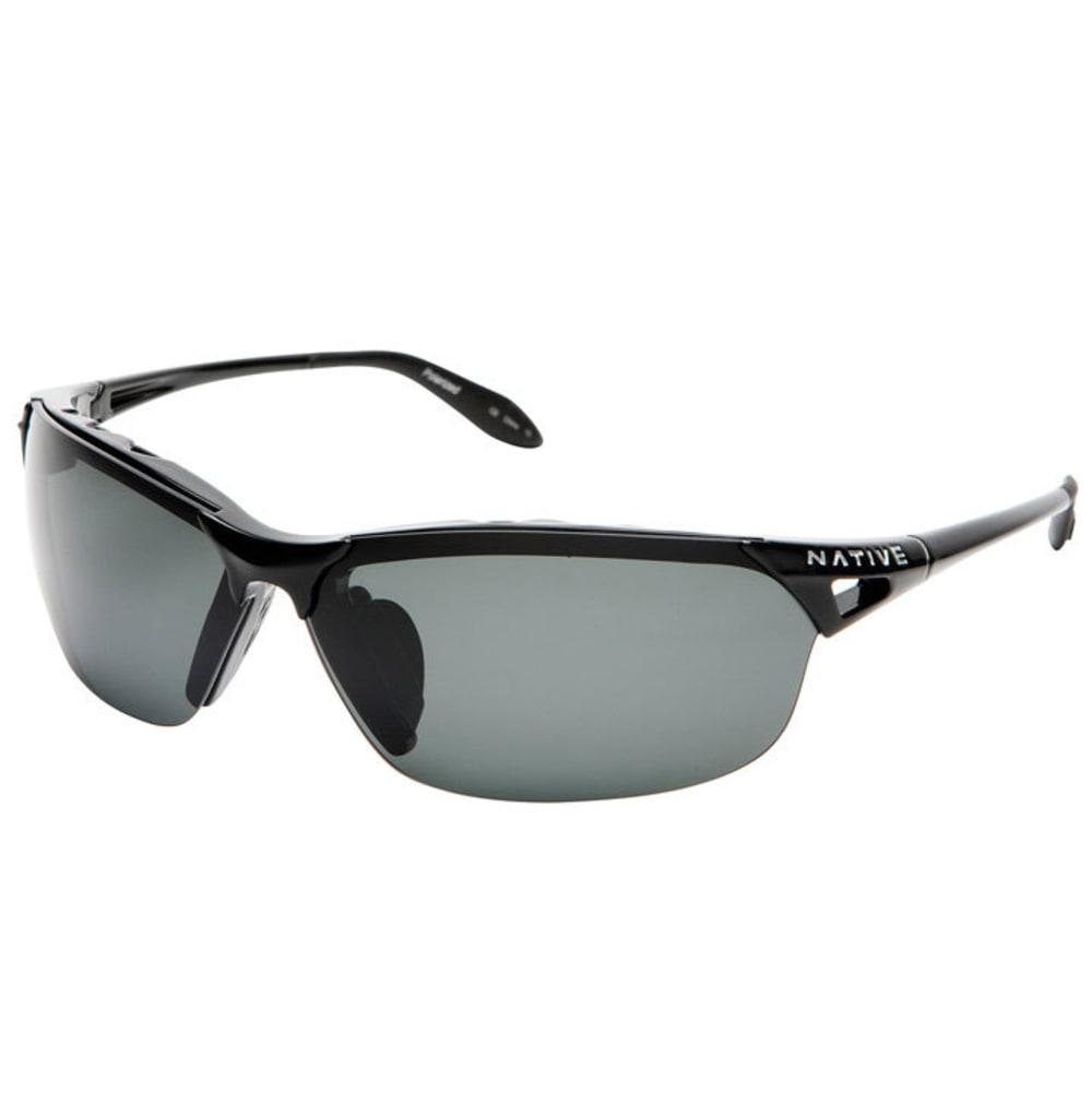 NATIVE EYEWEAR Vigor Reflex Polarized Sunglasses, Iron/Silver - IRON/SILVER