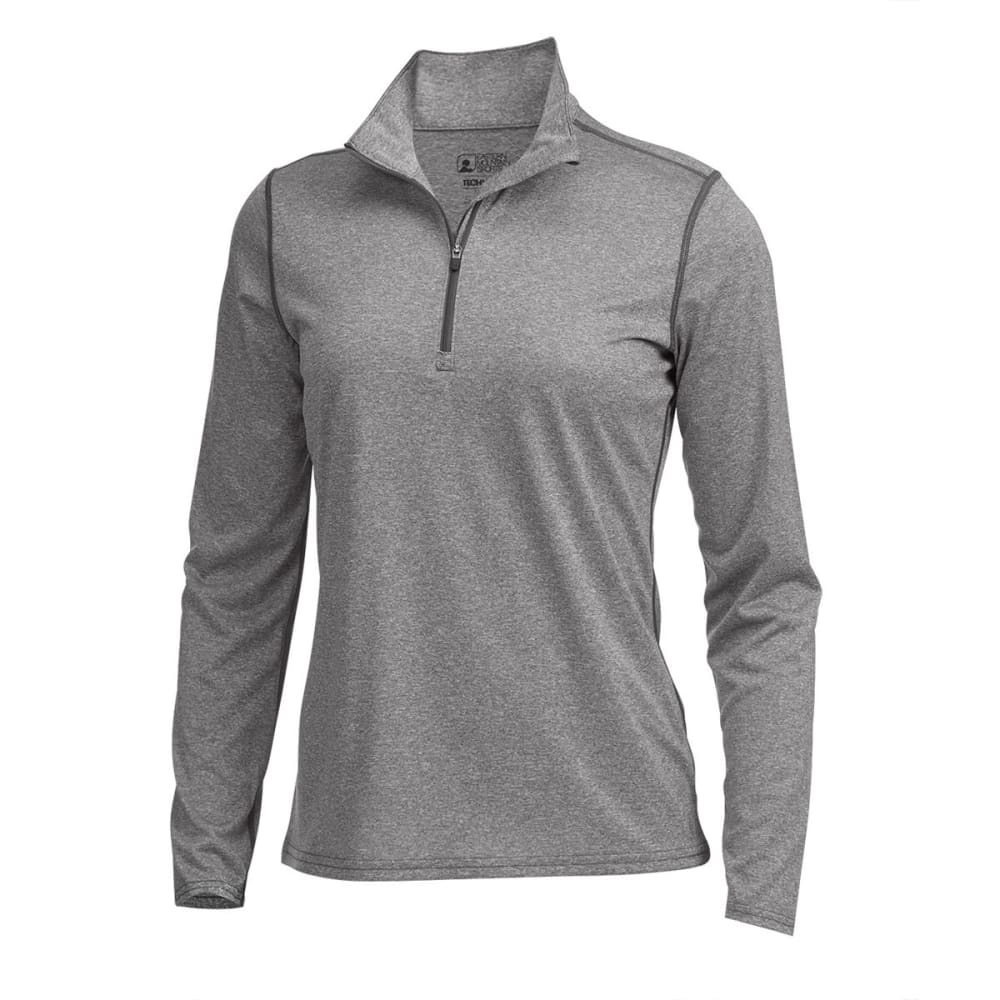 EMS® Women's Techwick® Essence  ¼ Zip Pullover - PEWTER HEATHER
