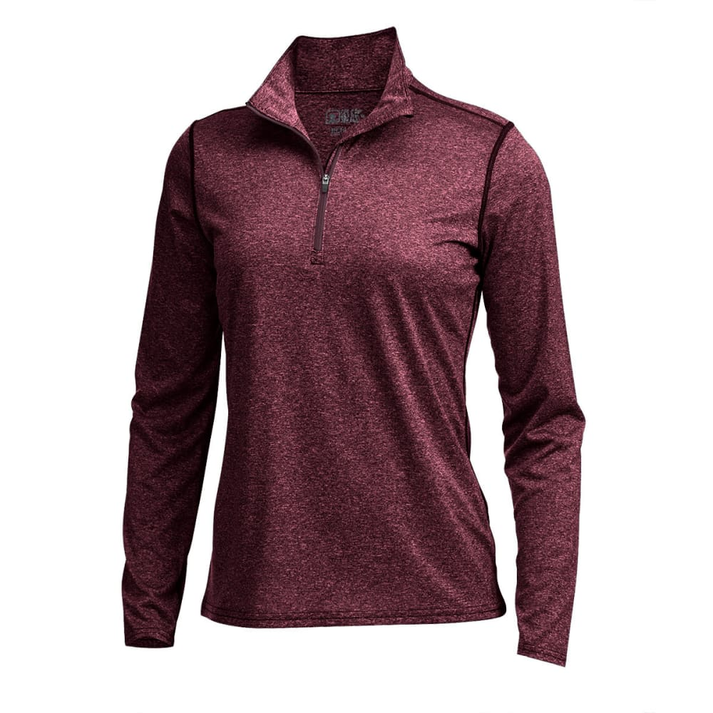 EMS® Women's Techwick® Essence  ¼ Zip Pullover - WINETASTING HTR