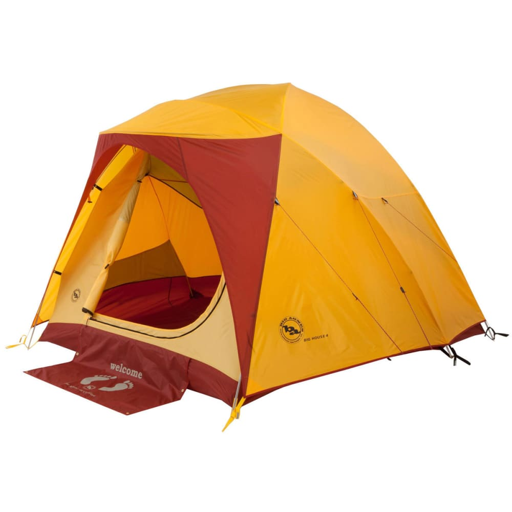 BIG AGNES Big House 4 Tent, 2013 - YELLOW/RED