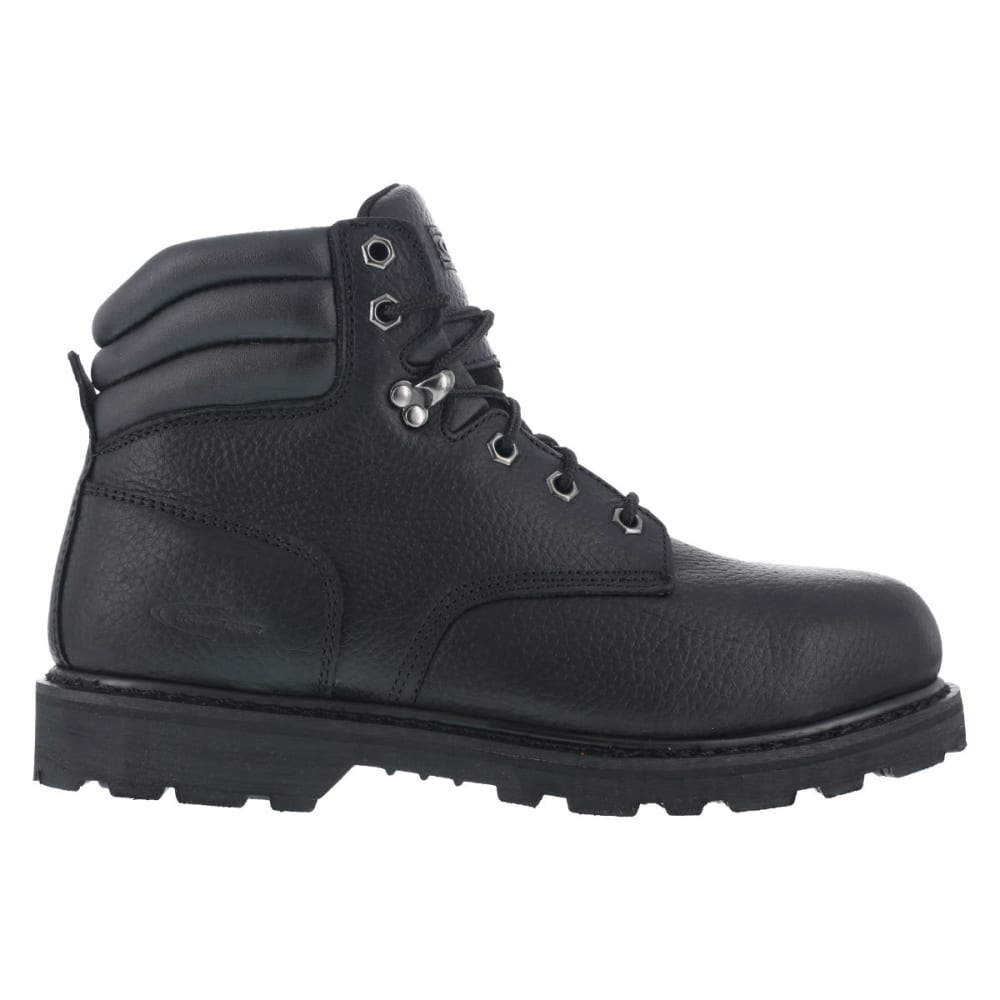 KNAPP Men's Backhoe Steel Toe Work Boots - BLACK