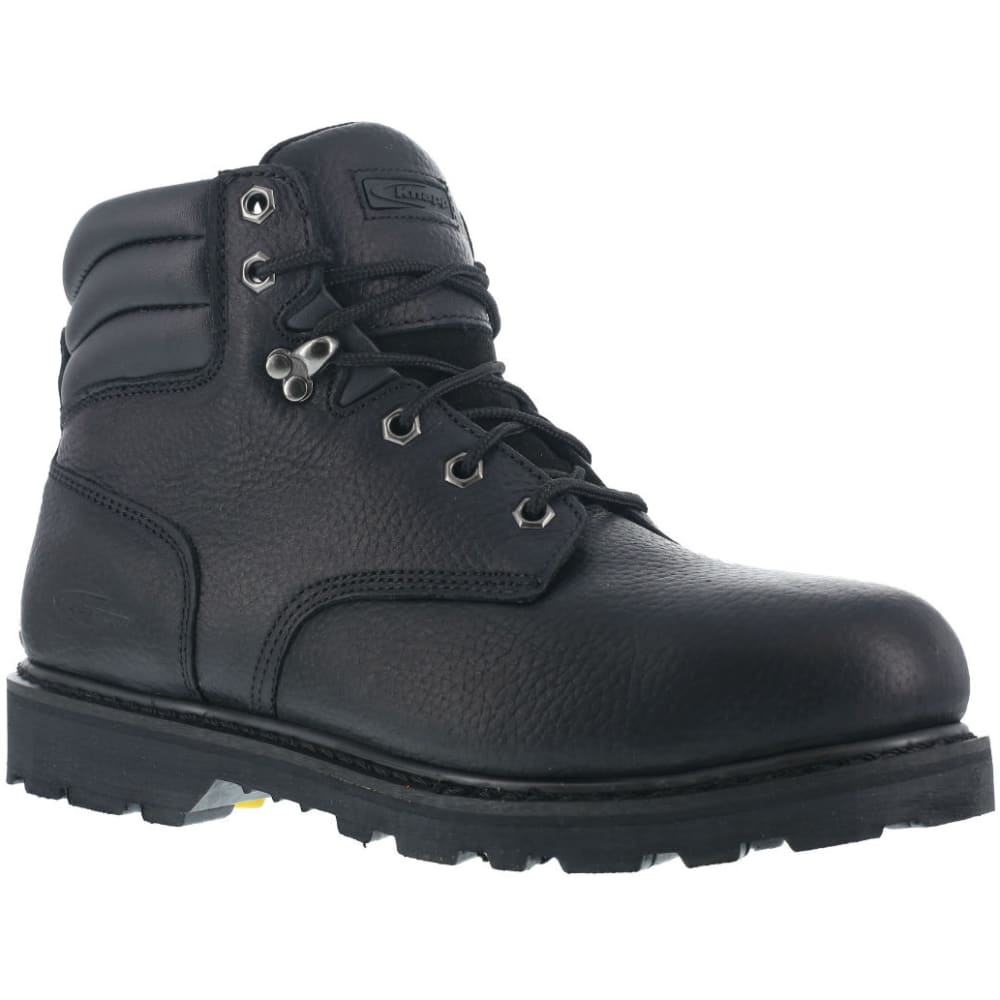 KNAPP Men's Backhoe Steel Toe Work Boots, Wide Width - BLACK