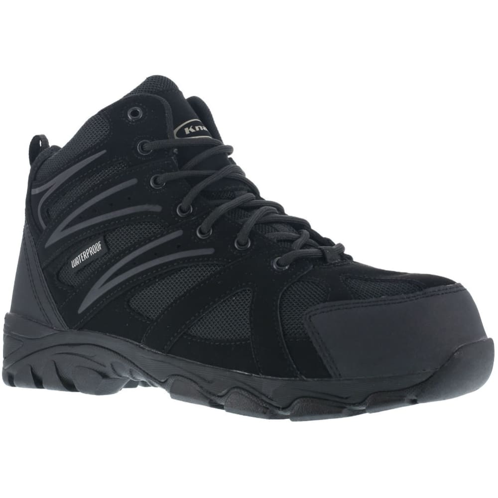 KNAPP Men's Ground Patrol Composite Toe Hiking Boots - BLACK