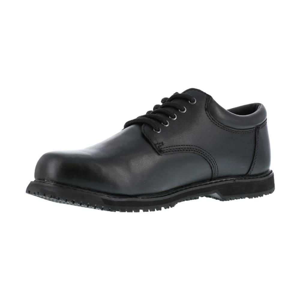 GRABBERS Men's Friction Work Shoes, Wide Width - BLACK