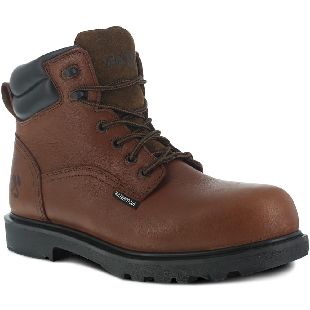 IRON AGE Men's Hauler Waterproof Work Boots, Wide Width 8.5