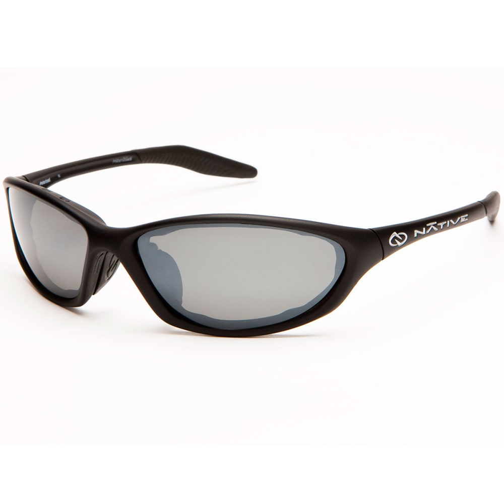 NATIVE EYEWEAR Silencer Polarized Sunglasses - Blk asphlt/slvr rflx
